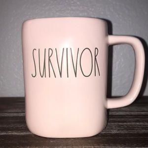 Rae Dunn • SURVIVOR pink mug